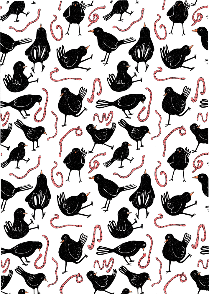 black bird pattern