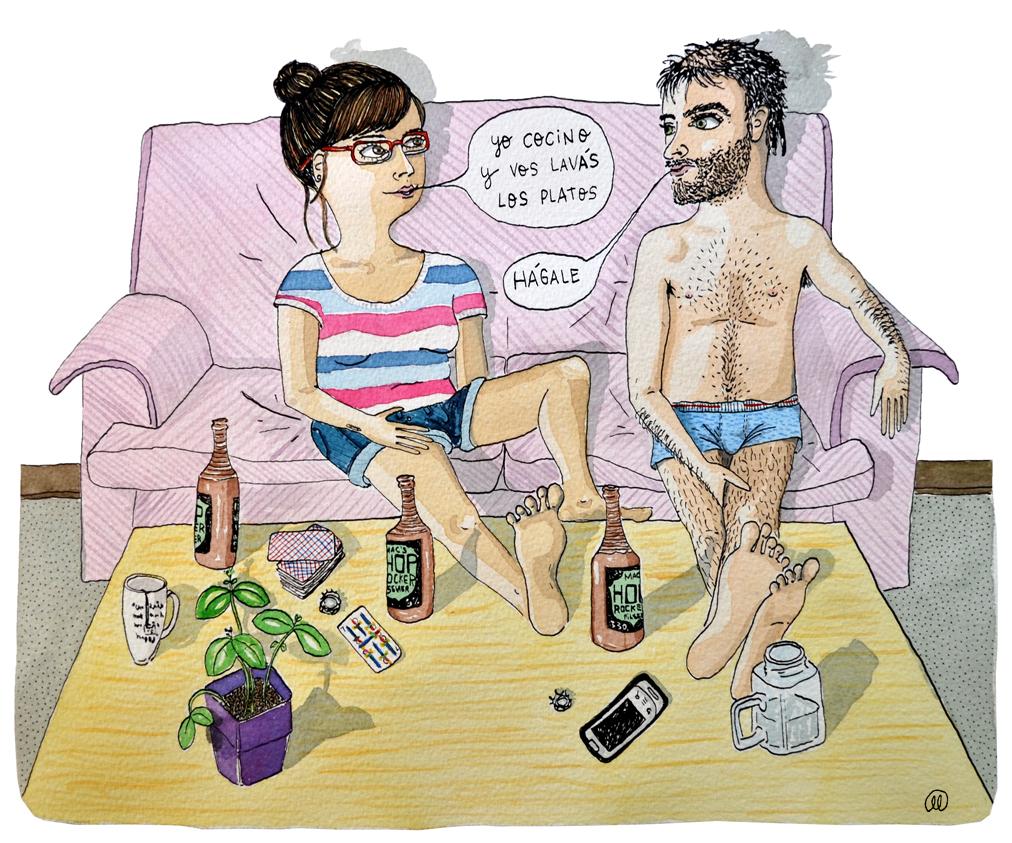 domestic couple
