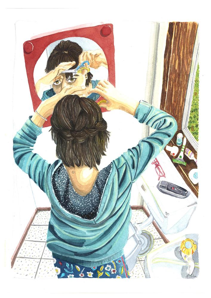 haircut illustration