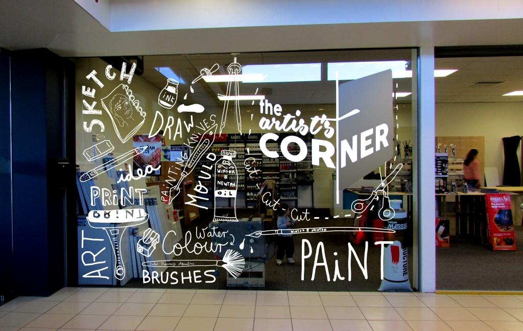 Window artist corner