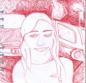 chica rojo